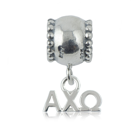 Sterling Silver Alpha Chi Omega Daisy Charm Bead