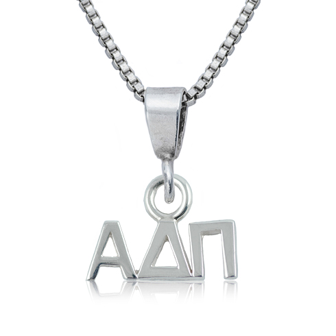 Sterling Silver 16in Alpha Delta Pi Charm Necklace