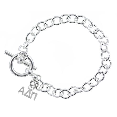 Sterling Silver Alpha Delta Pi Link Bracelet