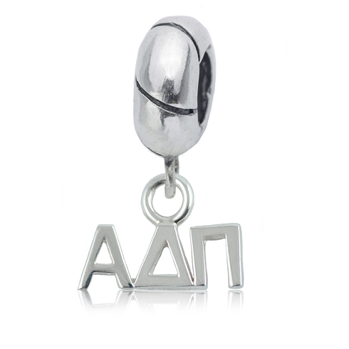 Sterling Silver Alpha Delta Pi Charm Bead