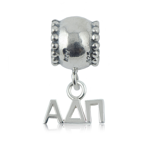 Sterling Silver Alpha Delta Pi Daisy Charm Bead