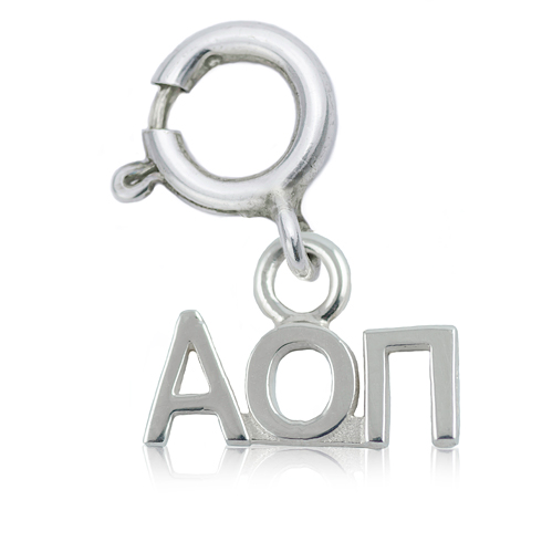 Sterling Silver Alpha Omicron Pi Charm