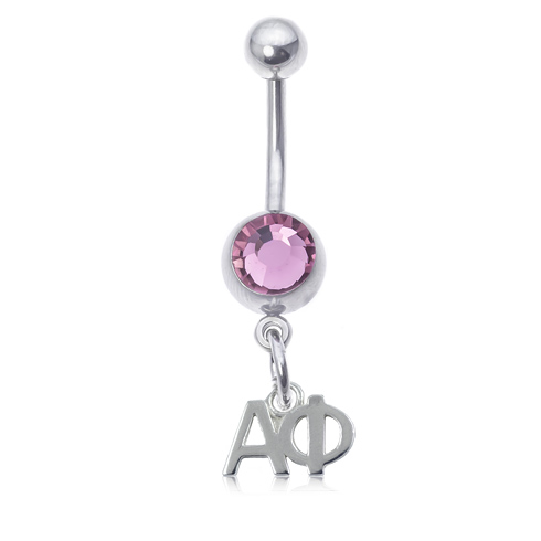 Alpha Phi Pink Belly Button Ring