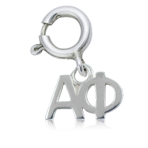 Sterling Silver Alpha Phi Charm