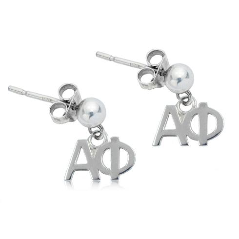 Sterling Silver Alpha Phi Post Earrings