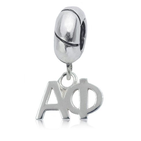 Sterling Silver Alpha Phi Charm Bead