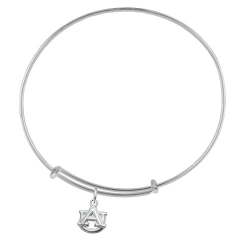 Sterling Silver Auburn University Charm Adjustable Bracelet