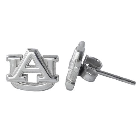 Sterling Silver Auburn University Post Earrings