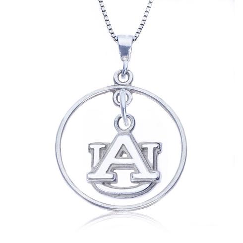 Sterling Silver 16in Open Drop Auburn Necklace