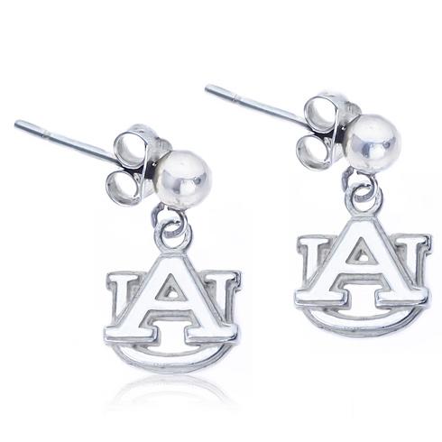 Sterling Silver Post Dangle Auburn Earrings