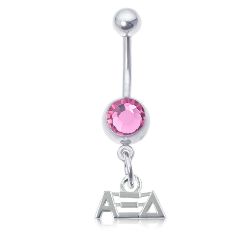 Alpha Xi Delta Pink Belly Button Ring