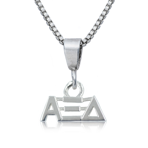 Sterling Silver 16in Alpha Xi Delta Charm Necklace