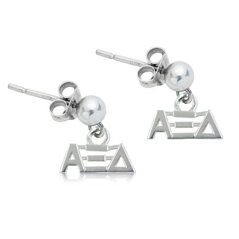 Sterling Silver Alpha Xi Delta Post Earrings