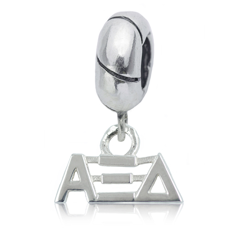 Sterling Silver Alpha Xi Delta Charm Bead