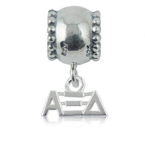 Sterling Silver Alpha Xi Delta Daisy Charm Bead