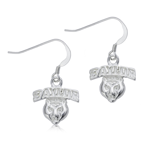 Sterling Silver Baylor University Dangle Earrings
