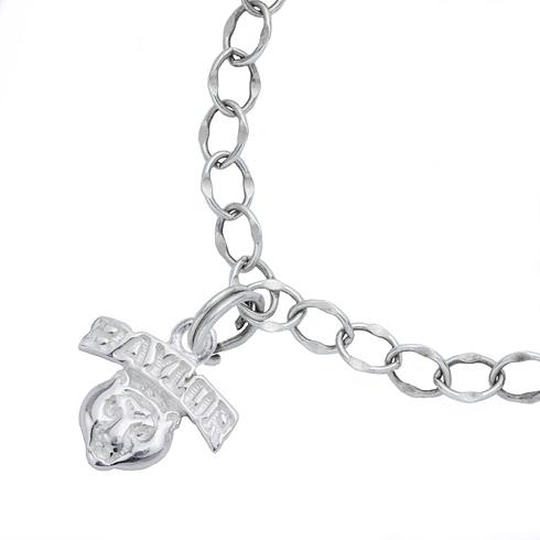Sterling Silver 7 1/2in Baylor University Charm Bracelet