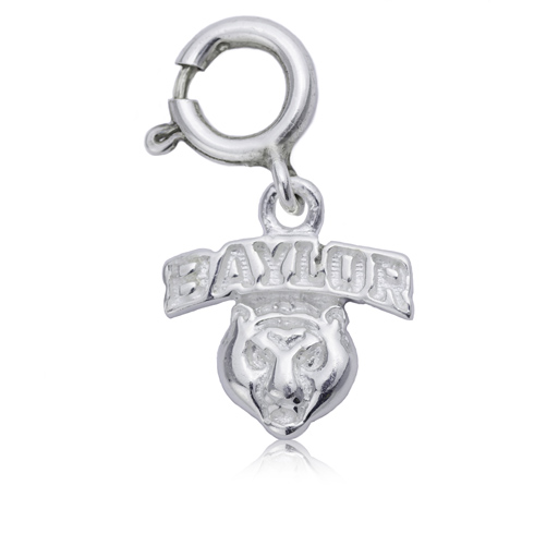 Sterling Silver 3/8in Baylor University Mascot Charm