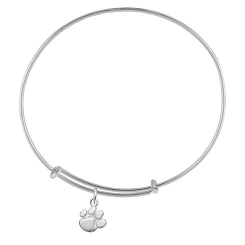 Sterling Silver Clemson University Charm Adjustable Bracelet