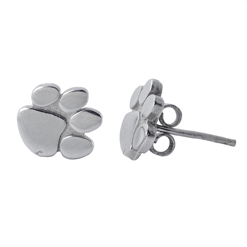 Sterling Silver Clemson University Post Earrings