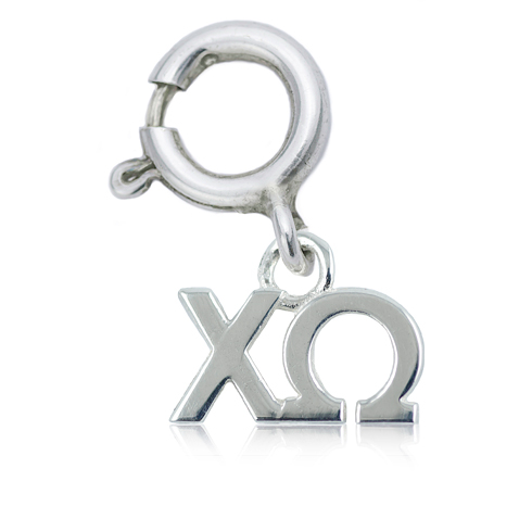 Sterling Silver Chi Omega Charm