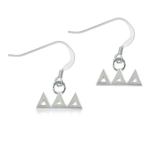 Sterling Silver Delta Delta Delta Dangle Earrings