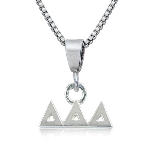 Sterling Silver 16in Delta Delta Delta Charm Necklace