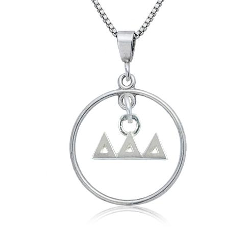 Sterling Silver 16in Delta Delta Delta Open Drop Necklace
