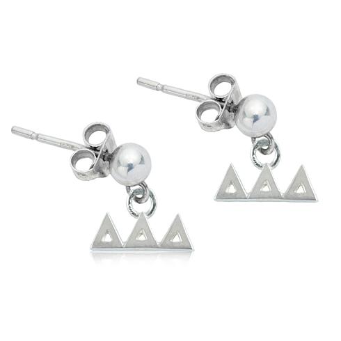 Sterling Silver Delta Delta Delta Post Earrings