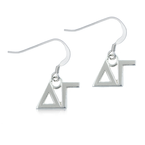 Sterling Silver Delta Gamma Dangle Earrings