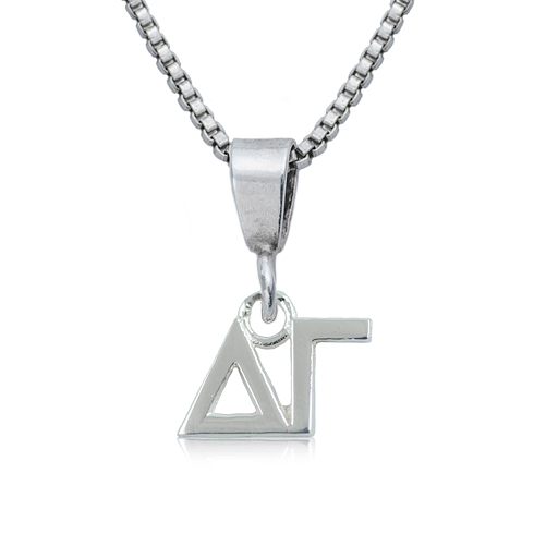 Sterling Silver 16in Delta Gamma Charm Necklace