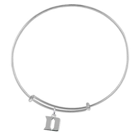 Sterling Silver Duke University Charm Adjustable Bracelet