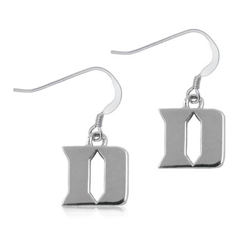 Sterling Silver Duke University D Dangle Earrings