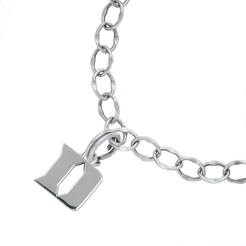 Sterling Silver 7 1/2in Duke University Charm Bracelet