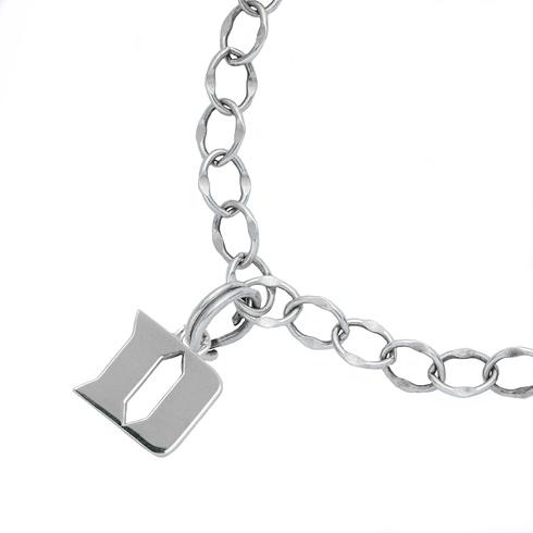 Sterling Silver 7 1/2in Duke University Charm Bracelet