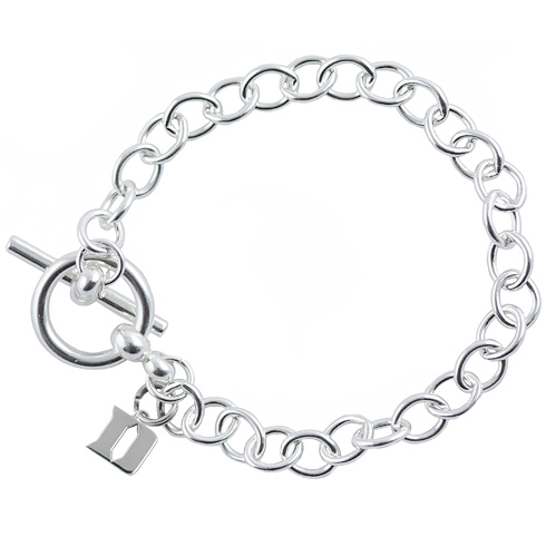 Sterling Silver 7 1/2in Duke University Link Bracelet