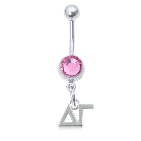 Delta Zeta Pink Belly Button Ring