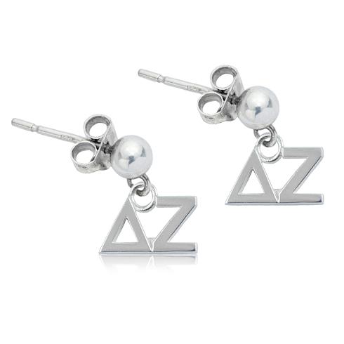 Sterling Silver Delta Zeta Post Earrings
