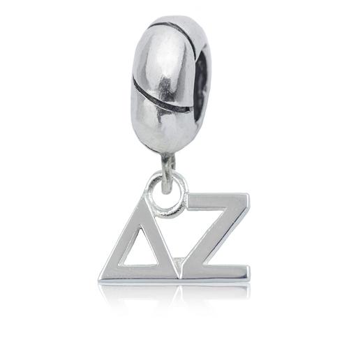 Sterling Silver Delta Zeta Charm Bead