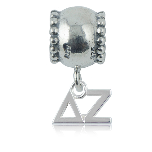 Sterling Silver Delta Zeta Daisy Charm Bead