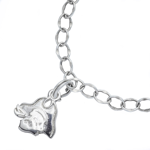 Sterling Silver 7 1/2in East Carolina University Charm Bracelet
