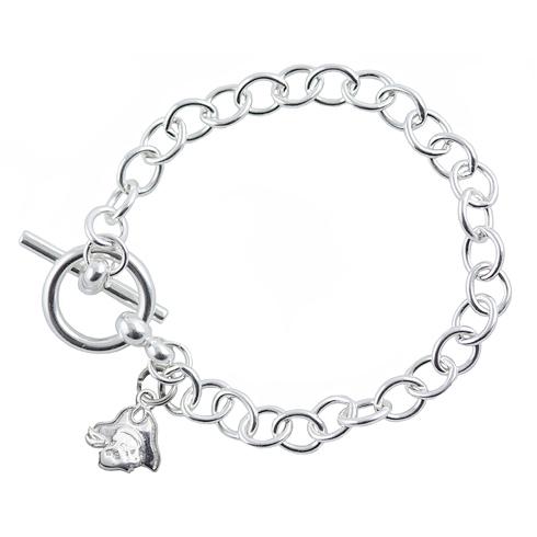Sterling Silver 7 1/2in East Carolina University Link Bracelet