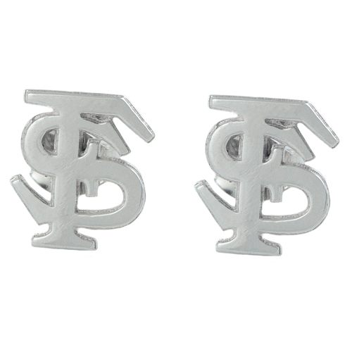 Sterling Silver Florida State University Post Earrings