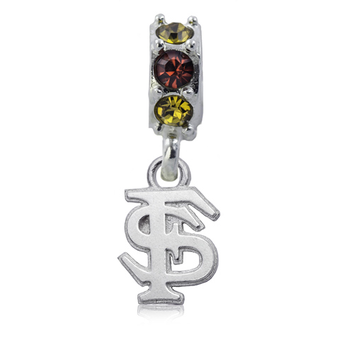 Sterling Silver Florida State University Spirit Charm Bead