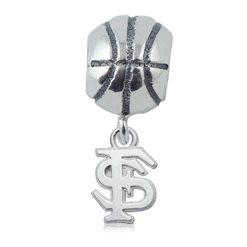 Sterling Silver Florida State University Basketball Bead