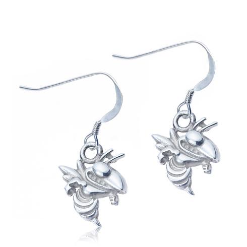 Sterling Silver Georgia Tech Dangle Earrings