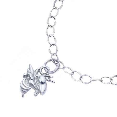 Sterling Silver Charm Georgia Tech Bracelet