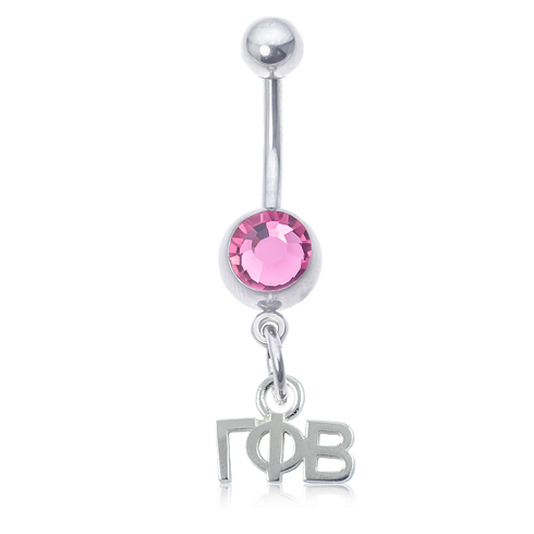 Gamma Phi Beta Pink Belly Button Ring
