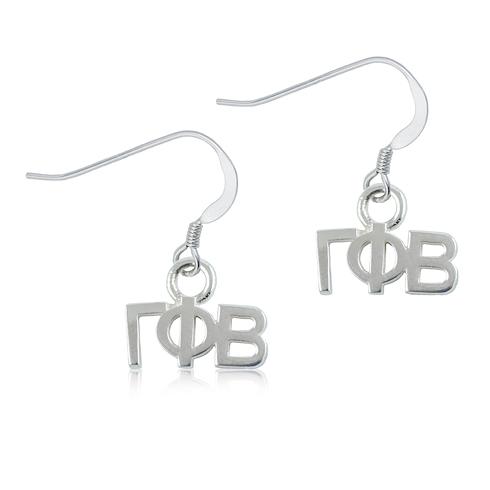 Sterling Silver Gamma Phi Beta Dangle Earrings