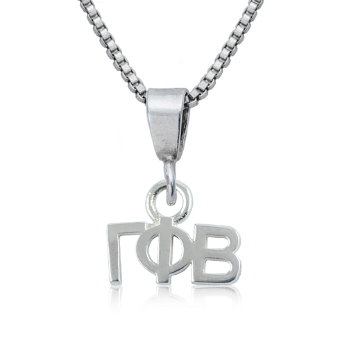 Sterling Silver 16in Gamma Phi Beta Charm Necklace